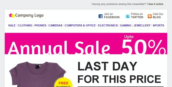 E-commerce E-mail Template