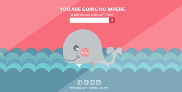 No Where - Responsive Creative 404 Error Template