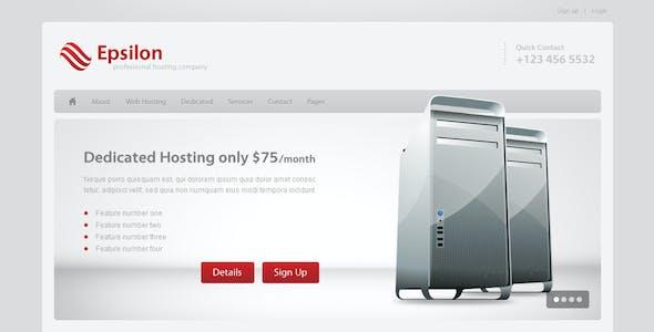 Epsilon - Hosting and Business Template