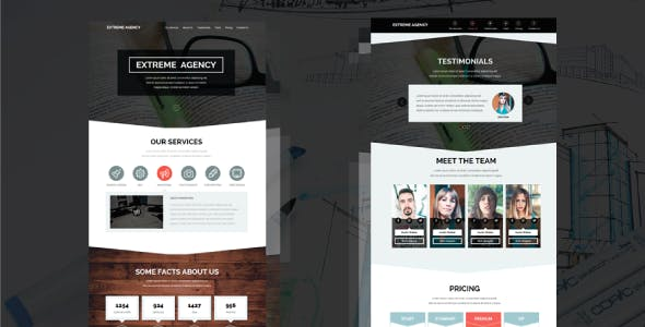 Extreme Agency - Creative Parallax Muse Template