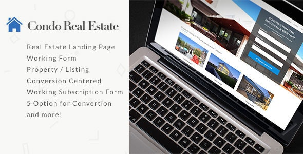 Condo Real Estate Landing Page - Marketing Corporate
