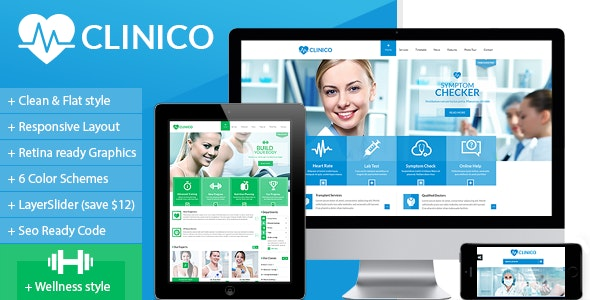 Clinico - Responsive Medical and Health Template - Health & Beauty Retail
