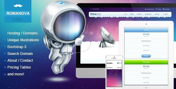 Romanova - Web Hosting Company Responsive Template - Hosting Technology
