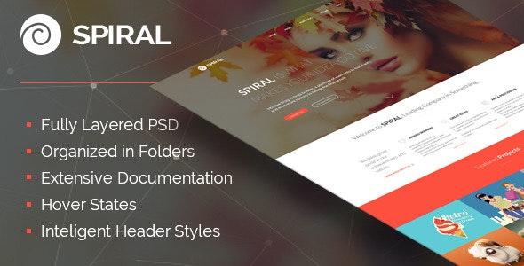Spiral - PSD Web Design - Creative Photoshop