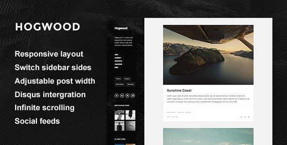Hogwood - Responsive Content Focus Theme - Blog Tumblr