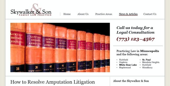 Law/Legal Business Template