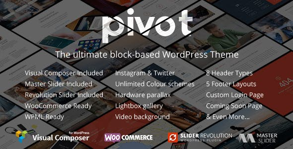 Pivot | Responsive Multipurpose WordPress Theme