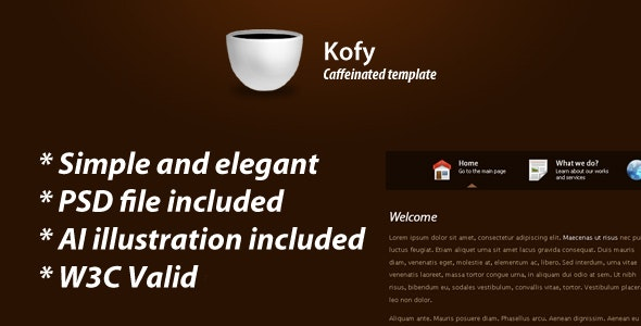 Kofy clean & elegant theme - Corporate Site Templates