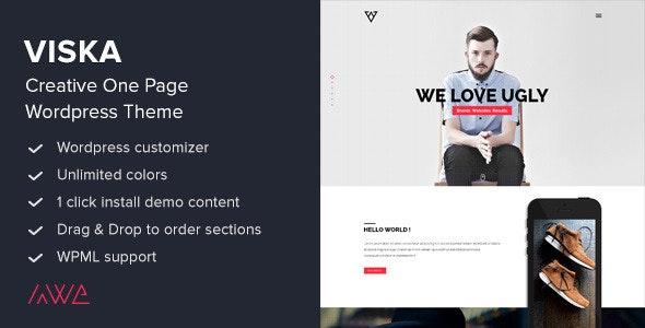 Viska - Creative One Page WordPress Theme - Portfolio Creative