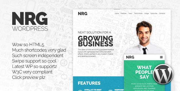 NRG - Responsive Wordpress Theme - Creative WordPress