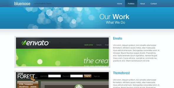 Bluenose Website Theme