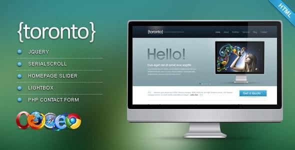 Toronto - HTML/CSS Template - Portfolio Creative
