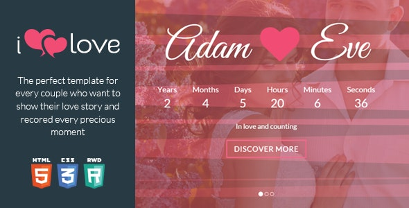 ilove -  Love Story HTML Wedding Template - Wedding Site Templates
