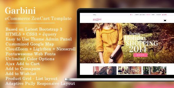 Garbini - Stylish Zencart Responsive Theme
