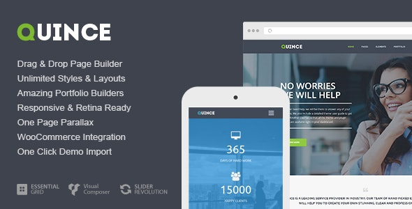 Quince - Modern Business Theme - Business Corporate