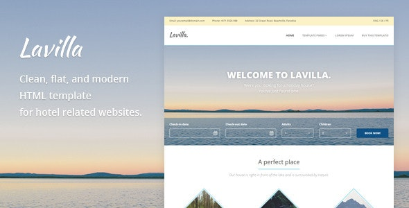 Lavilla - Hotel HTML Template  - Travel Retail
