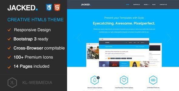 Jacked - Creative HTML5 Template - Portfolio Creative