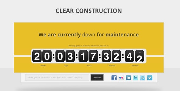 Clear Construction - Under Construction Specialty Pages