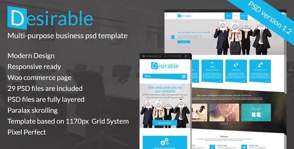 Desirable - Multi-Purpose Business PSD template - Business Corporate