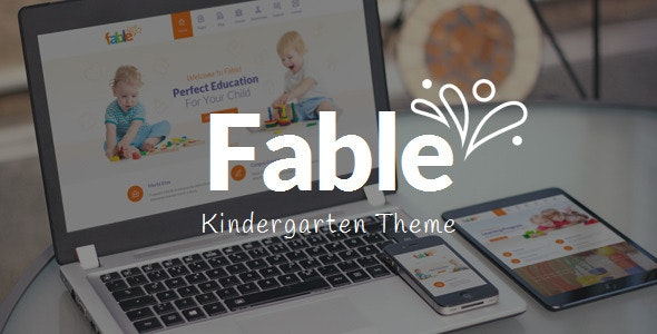 Fable - Children Kindergarten WordPress Theme - Education WordPress