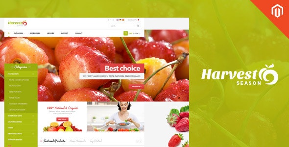 Ves Harvest Shop Responsive  Magento Theme - Shopping Magento