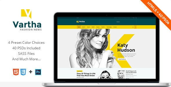Vartha - HTML5 Magazine Template - Fashion Retail