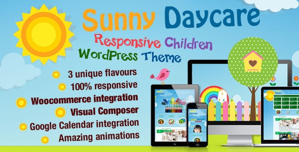 Daycare - Kindergarden WordPress Theme - Education WordPress