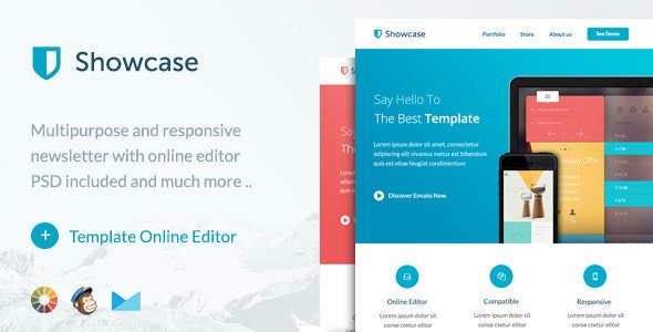 Showcase - Responsive Email + Themebuilder Access - Newsletters Email Templates
