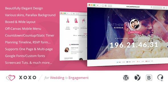 XOXO - Beautifully Elegant Wedding WordPress Theme