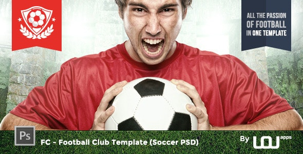 FC - Football Club Template (Soccer PSD) - Entertainment Photoshop