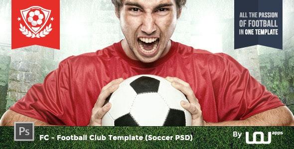 FC - Football Club Template (Soccer PSD) - Entertainment PSD Templates