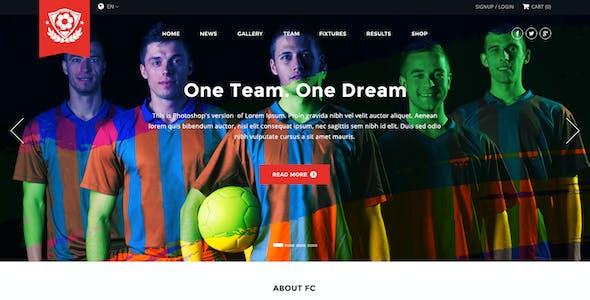 FC - Football Club Template (Soccer PSD)
