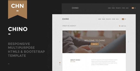 Chino - Responsive Multipurpose Template - Corporate Site Templates