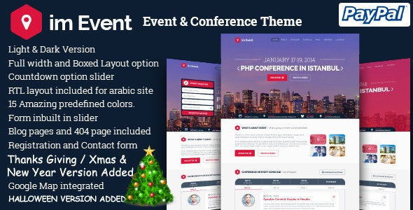 imEvent - Conference Landing Page HTML Template - Events Entertainment