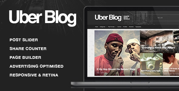 UberBlog - Blogging WordPress Theme - Personal Blog / Magazine