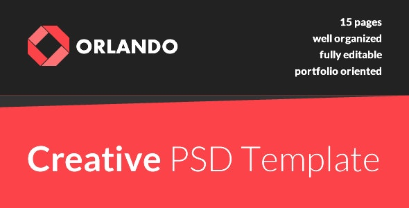 Orlando - Creative PSD Template - Creative Photoshop