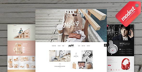 Modest Shop - 3 in 1 eCommerce PSD Templates - Shopping Retail