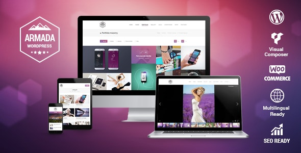 Armada — Multifunction Photography WordPress Theme - Photography Creative