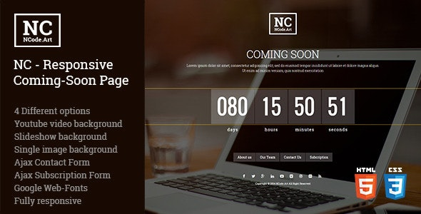 NC - Responsive Coming-Soon Page - Under Construction Specialty Pages