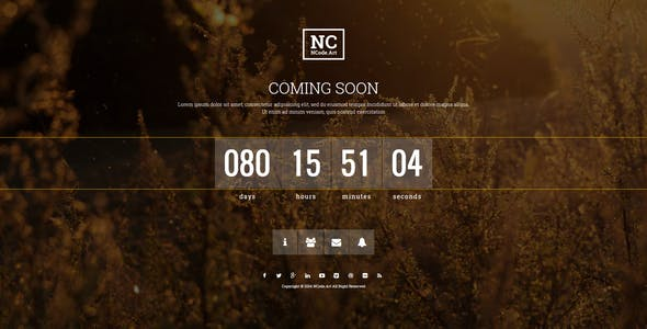 NC - Responsive Coming-Soon Page