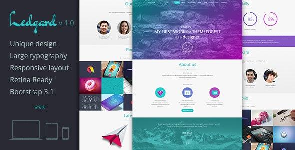 Ledgard WP - Clean Responsive Landing Page + Blog - Creative WordPress