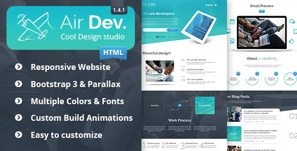 Air Dev - Responsive Website Template - Corporate Site Templates