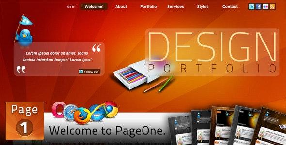 PageOne - HTML one page Portfolio Site - Portfolio Creative