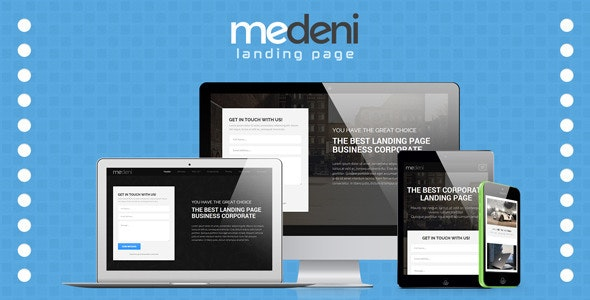 Medeni Responsive & Clean Corporate Landing Page - Business Corporate