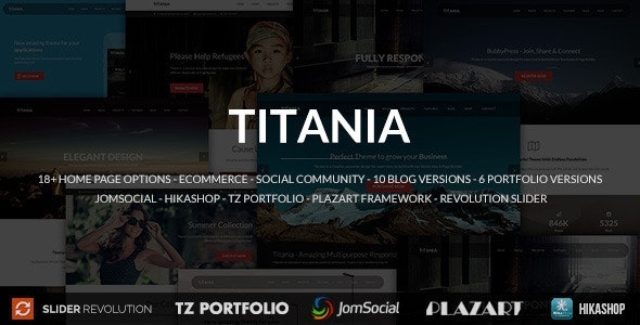 Titania - Responsive Multipurpose Joomla Template - Corporate Joomla
