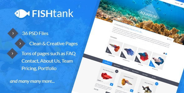 FishTank - Creative eCommerce PSD Template - Shopping Retail