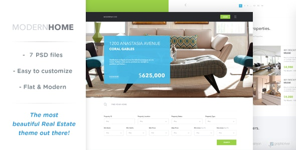 Modern Home - Real Estate Multi-Purpose Template - Business Corporate