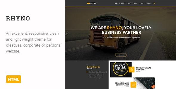 Rhyno | Creative HTML Theme - Creative Site Templates
