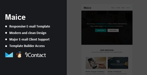 Maice - Responsive Email + Themebuilder Access  - Email Templates Marketing