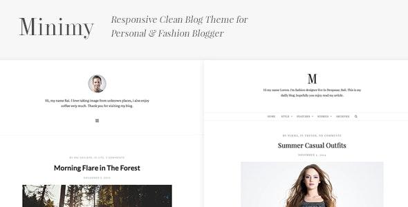 Minimy - Responsive Clean Personal & Fashion Blog - Personal Blog / Magazine